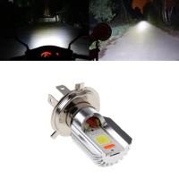H4 Lampu Bohlam Cob LED Hi / Lo Beam untuk Motor