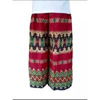 Sarung Celana Batik motif bunga merah