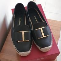 [preloved] Sepatu Salvatore Ferragamo Sannio Espadrilles Leather Shoes