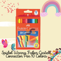 Spidol Warna Faber Castell Connector Pen 10 Colors