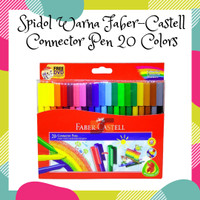 Spidol Warna Faber-Castell Connector Pen 20 Colors