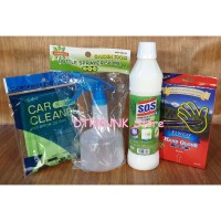 Easy Cleaning with SOS Sereh + Spray Bottle + Microfiber + Hand Glove