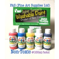 Cat Mudah di Cuci Washable Paint 5 warna FAS Super Tempera ATK0942FS