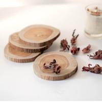 TEAKI | coaster kayu | wooden slice | tatakan gelas