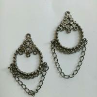 Charm bandul liontin logam eetnik indian 3*6cm (isi 2)