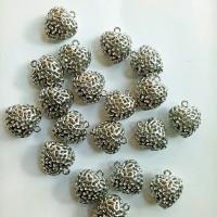 Charm bandul liontin logam bentuk hati silver 18mm (isi 19)