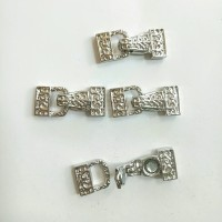 Variasi aksesoris sekat kait magnet logam bentuk gembok 1*1.3cm isi 4