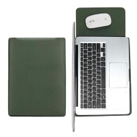 Tas Laptop Softcase Sleeve Slim PU Leather 14 inch - ijo army