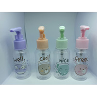 Botol kosong mini karakter lucu -Botol Pump kosong -Import uk 50-100ml - 75 ML