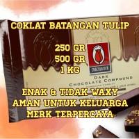 Coklat Batangan Tulip REPACK/ Batang Blok Dark Chocolate Compound DCC
