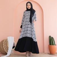 Simple Raya Yama Black by EMA Daily Dress Busui