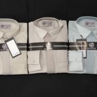 Alnoor Kerah Kemeja Premium lengan manset jubah gamis