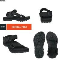sandal gunung eiger lightspeed crossbar hitam polos / sendal eiger ori