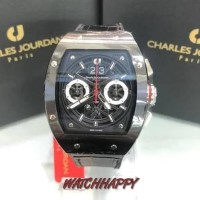 Jam T Pria CHARLES JOURDAN ORIGINAL100% CJ1090-1732C All Black CJ1090
