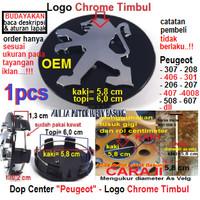 dop center as velg racing standar OEM peugeot hitam 5.8 cm topi 6.0 cm