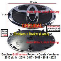 emblem logo grill + breket ori toyota 17 innova reborn crysta venturer