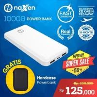 Naxen Simplicity Powerbank 10000 mAh Fast Charging + Free Pouch