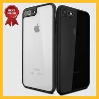 Casing Acrylic iPhone X 7 8 Plus Transparan Soft Hard Hybrid Slim Case - X atau XS