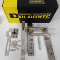 Handle Pintu Alumunium / Gagang Pintu Rumah Lengkap HP-2304