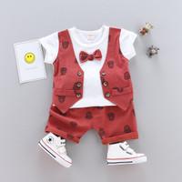 Setelan anak cowok baju kombinasi rompi bahan lembut best seller - maroon, 2-3 tahun