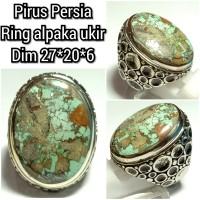 Cincin batu akik permata pirus persia 27206