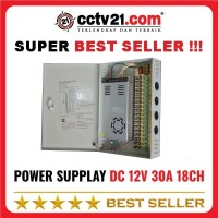 Power Supplay 18 Ch 30A DC 12V Panel Box 18Pot Sudah Ada Jack AC