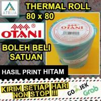 Thermal Roll OTANI Black 80x80 Core 19. Kertas Termal Struk Kasir