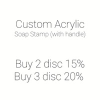 Custom Acrylic Soap Stamp w/ handle Custom Stempel Akrilik Sabun MAGA