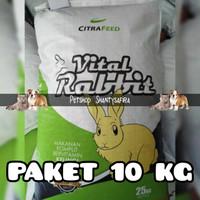 MAKANAN KELINCI VITAL RABBIT CITRA FEED PELET 10KG KHUSUS GRAB/GOJEK