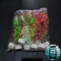 Rumput Hiasan Aquarium 20cm isi 10pcs / Tanaman Hias Akuarium Plastik