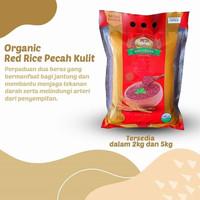 Organic Red Rice Pecah Kulit - Beras Organik - Beras Merah - MD 2kg