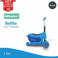 Scooter / Otoped / Sekuter anak 3 in 1 Bellila Blue