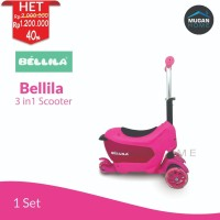 Scooter / Otoped / Sekuter anak 3 in 1 Bellila Pink