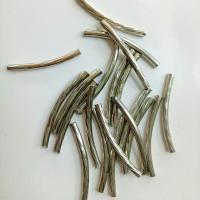 Variasi aksesoris sekat logam cekung polos silver 0.2*2.5cm (isi 20)
