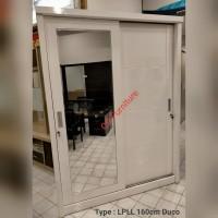 lemari pakaian 2 pintu sliding full duco 160cm