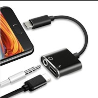 adapter type c to aux 3.5mm headphone + type c