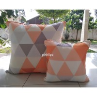 PINKIIPO - Sarung Bantal Sofa 60x60 [Orange Trivia]
