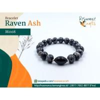 Gelang Batu Craft Pria Labradorite - Raven Ash