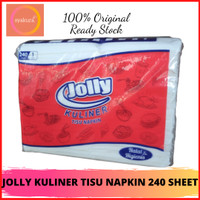 TISSUE JOLLY KULINER TISU NAPKIN 240 SHEET - TISSUE NAPKIN