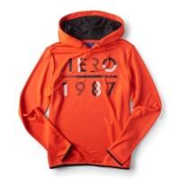 Jaket Aeropostale Aero 1987 Pullover Hoodie Dark Orange Original