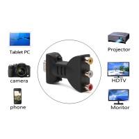 Adapter Konverter AV Digital Signal HDMI Ke 3 RCA Audio Video