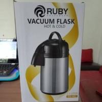 MURAH Ruby Vacuum Air Pot 2.5 Liter - Termos Air Panas Pompa Ruby
