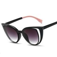 FaFa15 Kacamata Wanita Fashionable Cateye Sunglasses Anti UV [Hitam]