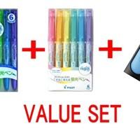 Pilot Frixion Light Fluorescent Ink Erasable Highlighter Pen Basic 6 C
