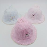 Topi Princess Motif Print Kelinci Bahan Lace untuk Bayi Perempuan