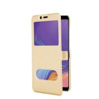Samsung Galaxy A10 A30 A20 A40 A50 Case Retro PU silk Leather Flip