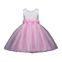 Dress Anak Perempuan Lengan Panjang Bahan Mesh Motif Bunga untuk