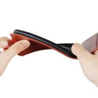 Folio Flip Case Bahan Kulit PU Warna Polos untuk Samsung Galaxy A50