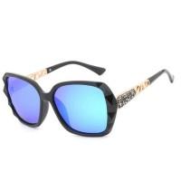 FaFa15 Kacamata Wanita Korean Sunglasses Polarized Anti UV [Black/blue
