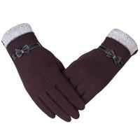 Sarung Tangan Full Finger Rajut Hangat Touch Screen untuk Wanita /